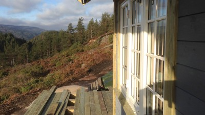 Utsikt fra terassen mot vest